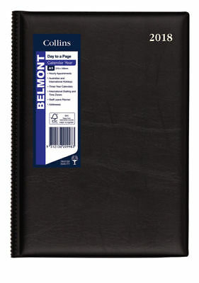 Diary 2018 Debden Belmont Black A5 Day to Page 187.V99 22x15.5cm