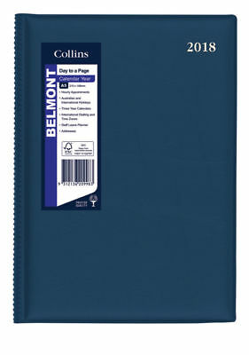 Diary 2018 Debden Belmont Navy A5 Day to Page 187.V59 22x15.5cm