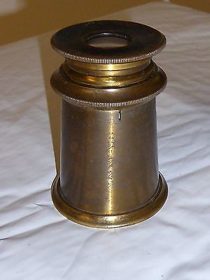 RARE 19th Century Brass Knurled FIELD MICROSCOPE