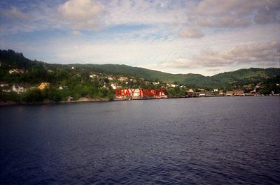 Photo  1995 Norway  Osterøy  View Of Breitheim From Ferry