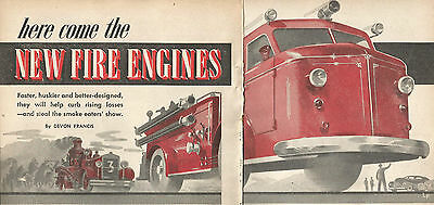1947 Here Come The New Fire Engines Original Article