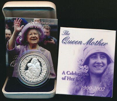 Australia 2002 $5 1oz Silver Proof The Queen Mother