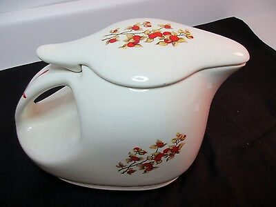 Vintage 1940's Universal Pottery Refrigerator Pitcher Lid Bittersweet Red Berry