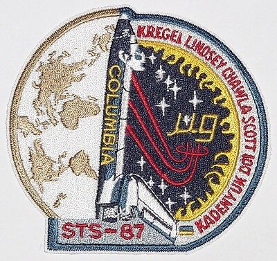 Aufnäher Patch Raumfahrt NASA STS-87 Space Shuttle Columbia ...........A3055