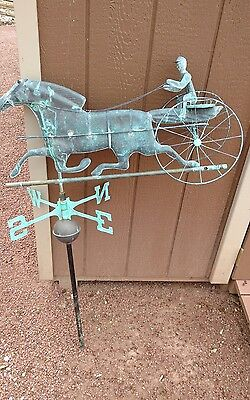 Antique Weathervane with Sulky Horse, late 1800s