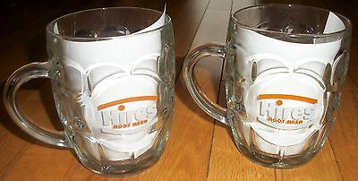 VTG Hires Root Beer Mug Lot (2) 1970s 1980s Rare Ravenhead Glass England