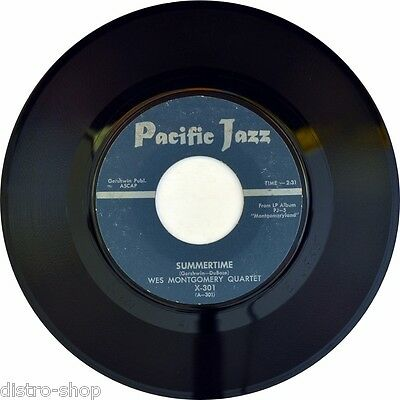 "7"" WES MONTGOMERY QUARTET Summertime / Fingerpickin' PACIFIC JAZZ US-Press 1960"