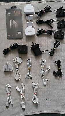 samsung j5 and iPhone cables,plugs and earphones bundle X16 thats £2 a item