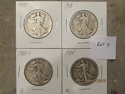 1 ROLL WALKING LIBERTY HALF $ - 20 coins all different lot 7