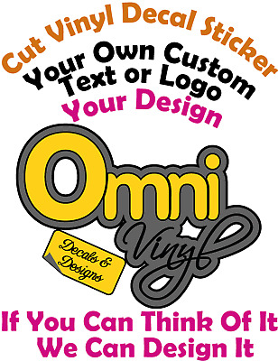 Create Your Own Custom Personalised Bumper,Car,Window Vinyl Sticker,Free design!