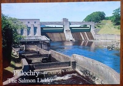 PITLOCHRY DAM, The Power-House and Salmon Ladder, Perthshire Postcard Reservoir