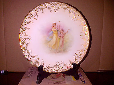 "Royal Doulton  9"" Plate ""Girls with Ball"" - HAND PAINTED by A. Dix"