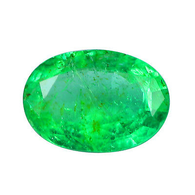 Emeraude de Colombie oval de 0.46ct VS1qualité joaillerie ou collection emerald