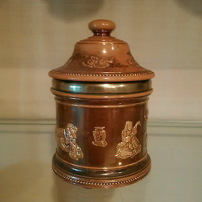 Chinese themed Tobacco Jar by Doulton - VERY RARE