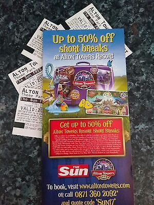 Alton Towers Tickets 20th July 2017 x 4