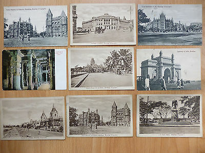 18 Vintage Postcards From  India Bombay & Delhi