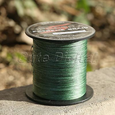 100M Spectra Moss Green PE Braided Strong Dyneema Extreme Sea Fishing Line