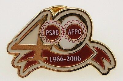 PSAC AFPC Gears Lapel Pin 40 years 1966 2006 Public Service Alliance Of Canada