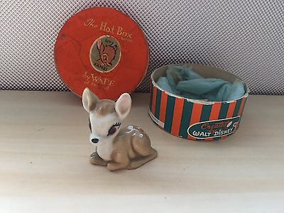 Very Collectable & Rare Wade Disney Hatbox Bambi The Baby Deer Boxed No 7