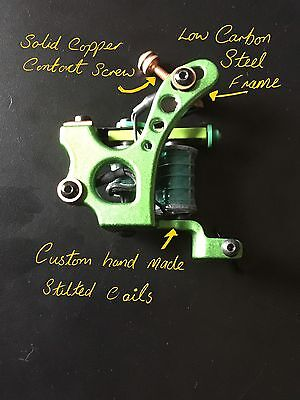 Purple Dragon Custom Tattoo Machine Shader -No 8 - Used Spare Parts-Frame-Coils