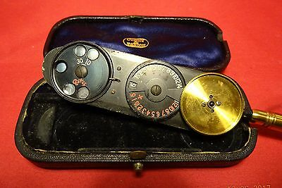 ANTIQUE MORTON`S OPHTHALMOSCOPE OPTHALMOSCOPE Curry & Paxton CASED INSTRUMENT