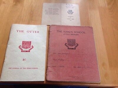 1961 Ann Chambers, School History Exercise Book & Term Card & School Journal.