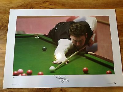Magnificent Signed Jimmy White Snooker Print.rare!-Superb!- Look!!
