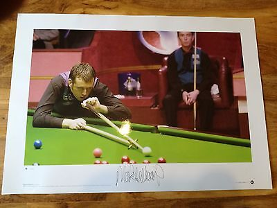 Magnificent Signed Mark Williams Snooker Print.rare!-Wales! Superb!- Look!!