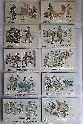 WW1 Fergus Mackain Sketches of Tommys Life complete set x 40 postcards 4 series
