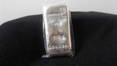 UMICORE PURE SILVER BAR 250 gm .999 BULLION PROOF (NICE NUMBER!) Pls see photos