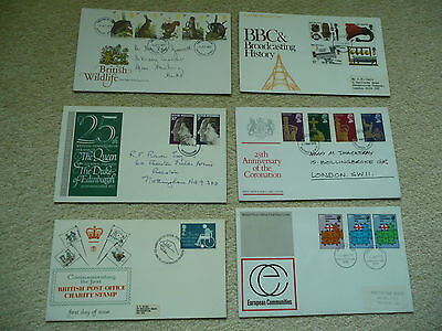 6 x GB First Day Covers (Lot 2)
