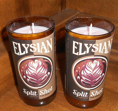 (2x) Elysian Craft Bottle Candle Hand Crafted Man Cave Soy Beer sign Collectable