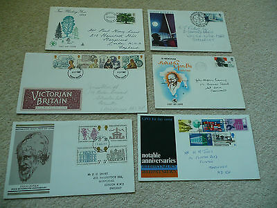 6 x GB First Day Covers (Lot 4)