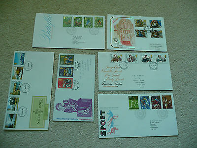 6 x GB First Day Covers (Lot 3)