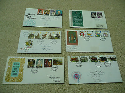 6 x GB First Day Covers (Lot 11)