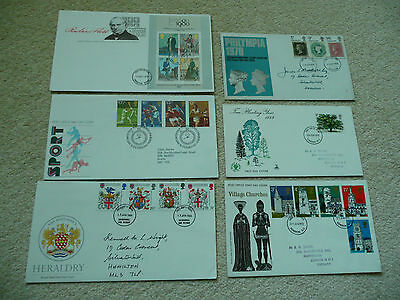 6 x GB First Day Covers (Lot 5)