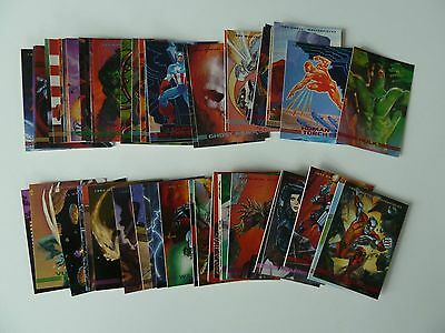 90 x Marvel Masterpieces Sky Box Trading Cards - 1993 - Full Set
