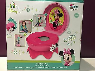 The First Years Disney Baby Minnie Mouse 3-In-1 Celebration Potty System NIOP