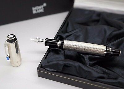 Fountain Pen MONTBLANC Boheme - STERLING SILVER 925 Barley - Blue - Ref 25170