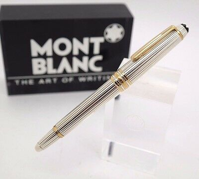 Fountain Pen MONTBLANC Solitaire STERLING SILVER 925 Barrel - Mozart Size 11,5cm