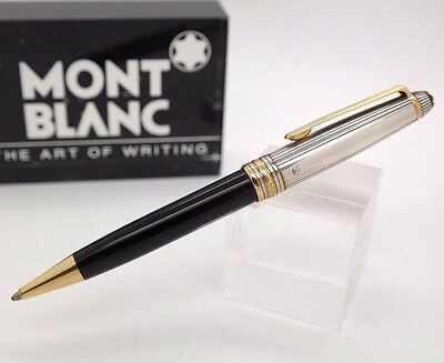 Ballpoint Pen MONTBLANC Solitaire Doue STERLING SILVER 925 & Gold Plated Trims