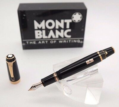 Fountain Pen MONTBLANC Boheme Black Resin & Gold Plated Trims - Brown Stone