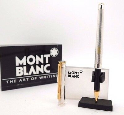 Rollerball Pen MONTBLANC Noblesse SILVER Barrel & Gold Plated - Vintage & Rare