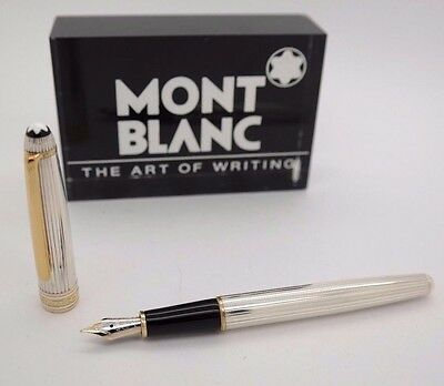Fountain Pen MONTBLANC Solitaire Nº 144 - STERLING SILVER 925 - Barrel - RARE