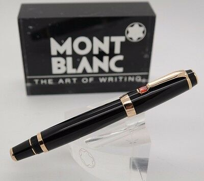 Rollerball Pen MONTBLANC Boheme Black Resin & Gold Plated Trims - Red Stone