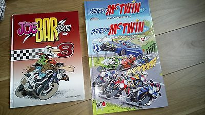 BD Steve Mc Twin n°1 et 2 + Joe Bar Team n°8
