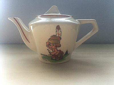 Very Collectable & Rare Wade Heath Walt Disney Hiawatha Teapot With Lid
