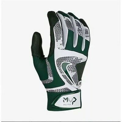 Nike MVP Elite Batting Gloves GB0401-107 Green White Gray Adult Size Large NWT