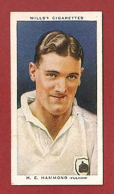 FULHAM FC  JIM HAMMOND  Sussex County Cricket Club 1935 card The Cottagers