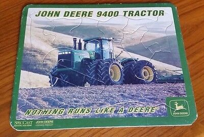 John Deere 9400 tractor tray puzzle licensed product Dyersville Iowa SpecCast